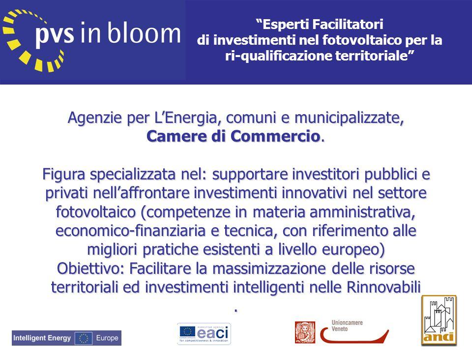 Verranno formati 620 Esperti in Europa (80 opportunità di formazione in Veneto).