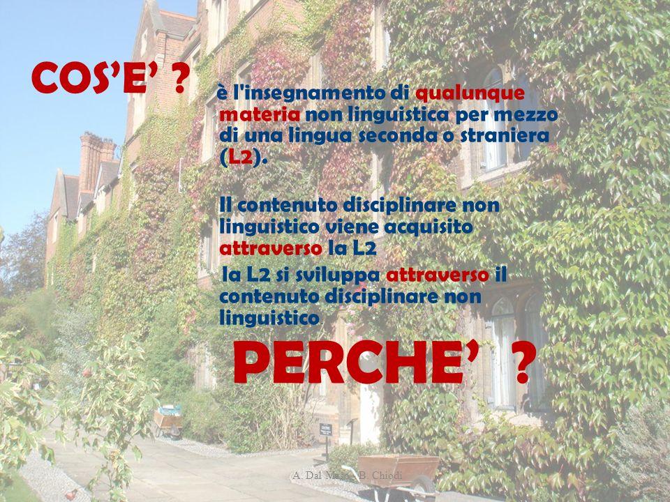 è l'insegnamento di qualunque materia non linguistica per mezzo di una lingua seconda o straniera (L2). Il contenuto disciplinare non linguistico vien