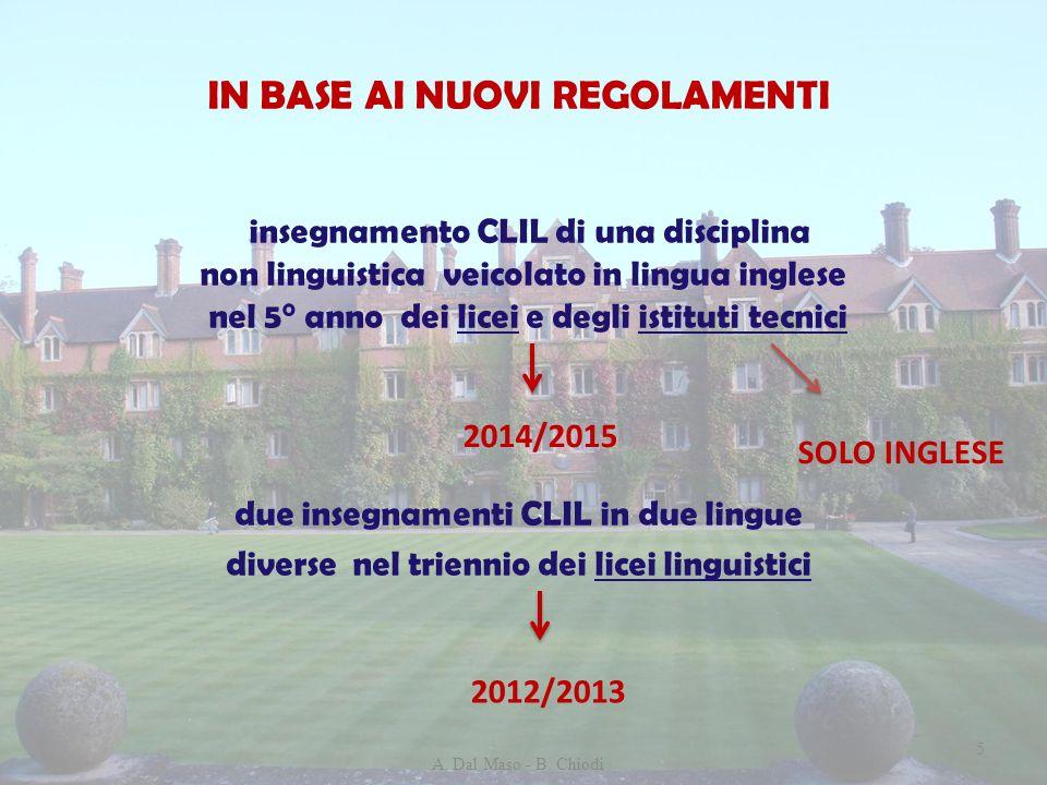Riferimenti normativi DD.PP.RR.nn. 87/2010, 88/2010 e 89/2010 Decreto 10/09/2010 n.