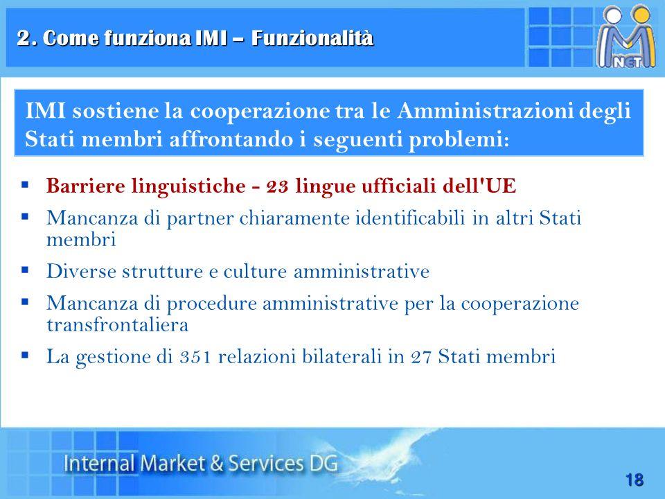 18 Barriere linguistiche - 23 lingue ufficiali dell'UE Mancanza di partner chiaramente identificabili in altri Stati membri Diverse strutture e cultur