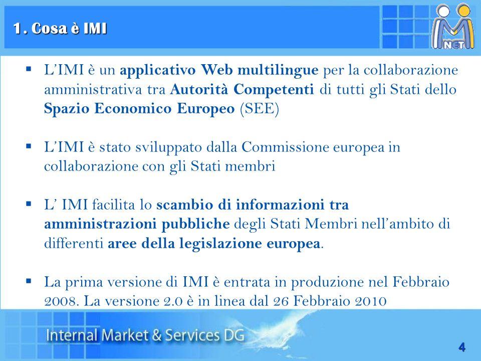 4 LIMI è un applicativo Web multilingue per la collaborazione amministrativa tra Autorità Competenti di tutti gli Stati dello Spazio Economico Europeo