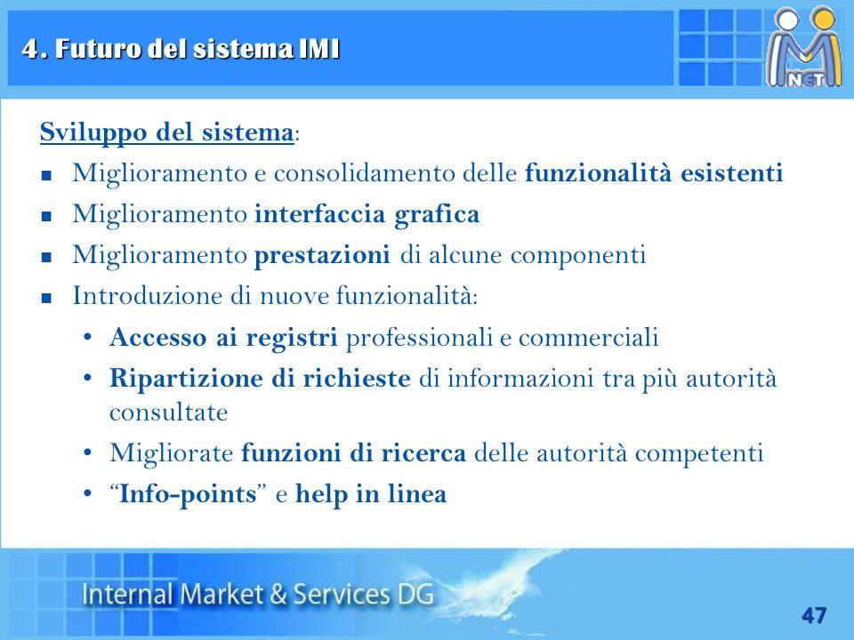 47 Sviluppo del sistema : Miglioramento e consolidamento delle funzionalità esistenti Miglioramento interfaccia grafica Miglioramento prestazioni di a