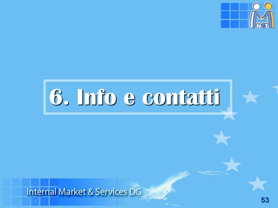 53 6. Info e contatti