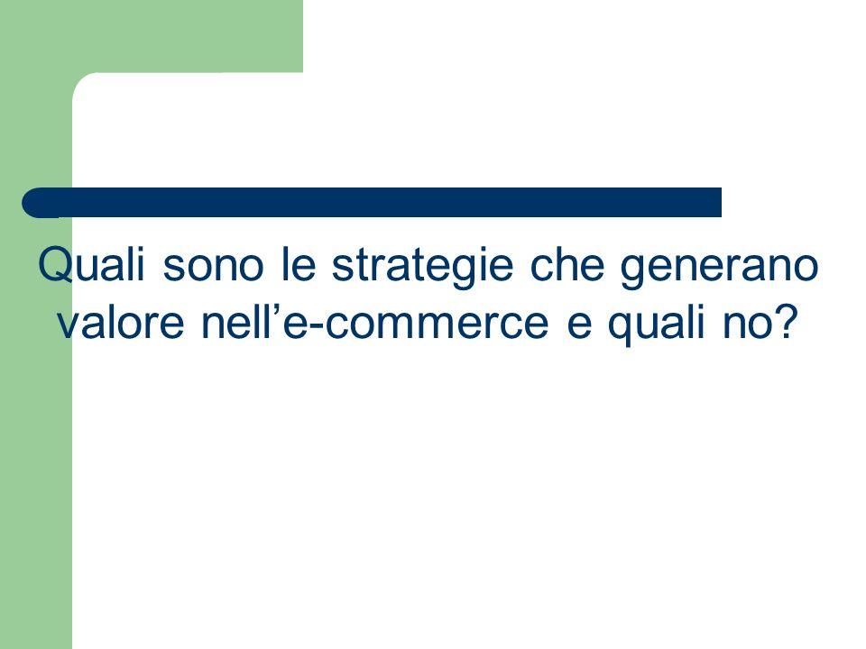 Quali sono le strategie che generano valore nelle-commerce e quali no?