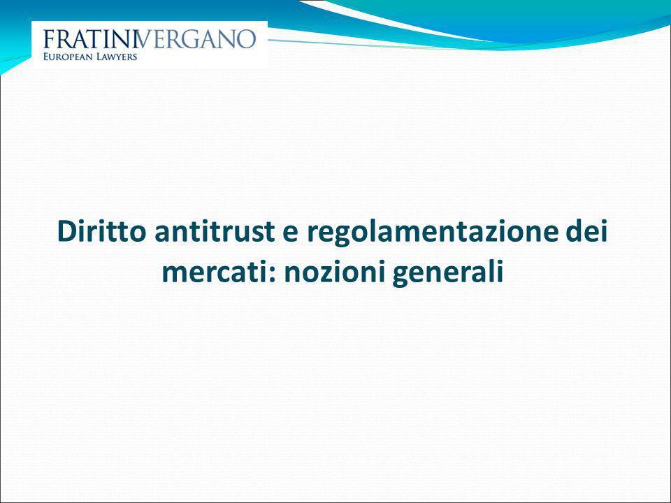 Nozioni generali Regolamentazione (e armonizzazione) Liberalizzazione (Diritto della) Concorrenza Privatizzazione (Politica di) concorrenza