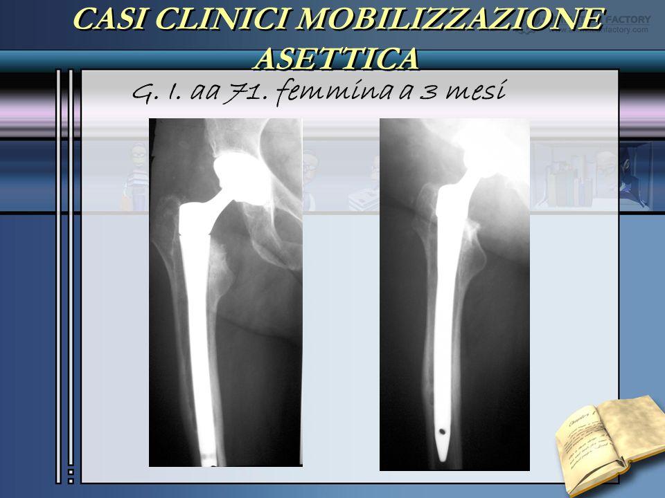 CASI CLINICI MOBILIZZAZIONE ASETTICA G. I. aa 71. femmina a 3 mesi