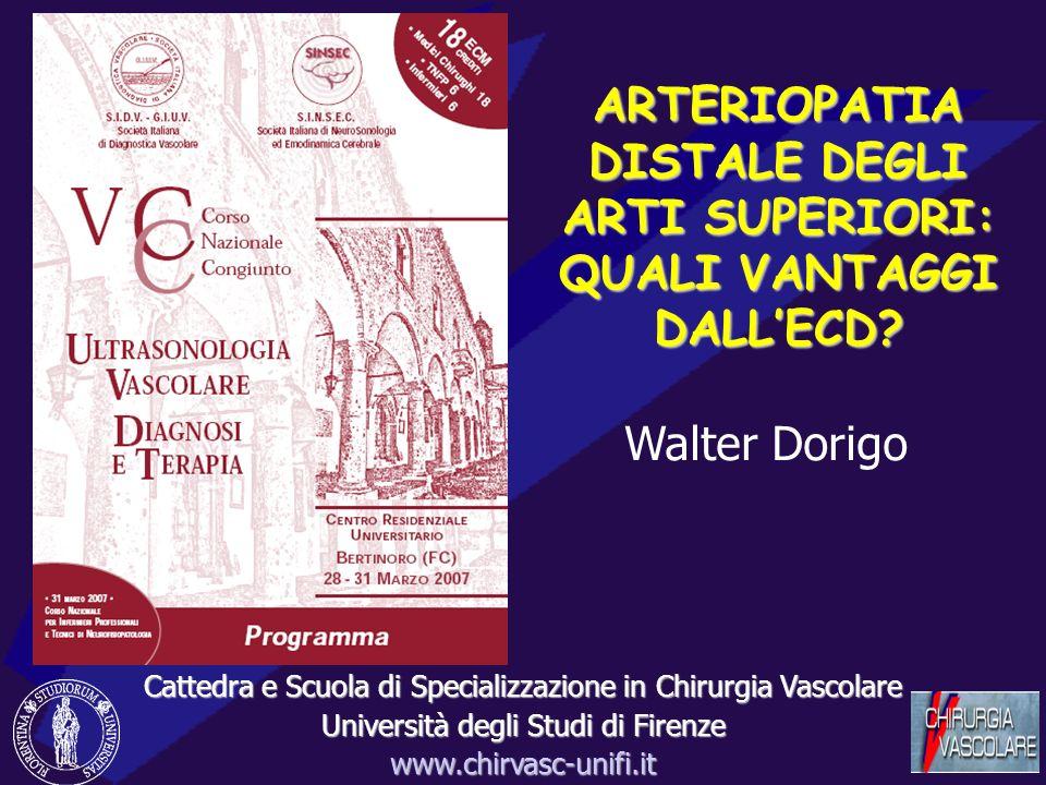 ARTERIOPATIA DISTALE DEGLI ARTI SUPERIORI: QUALI VANTAGGI DALLECD.