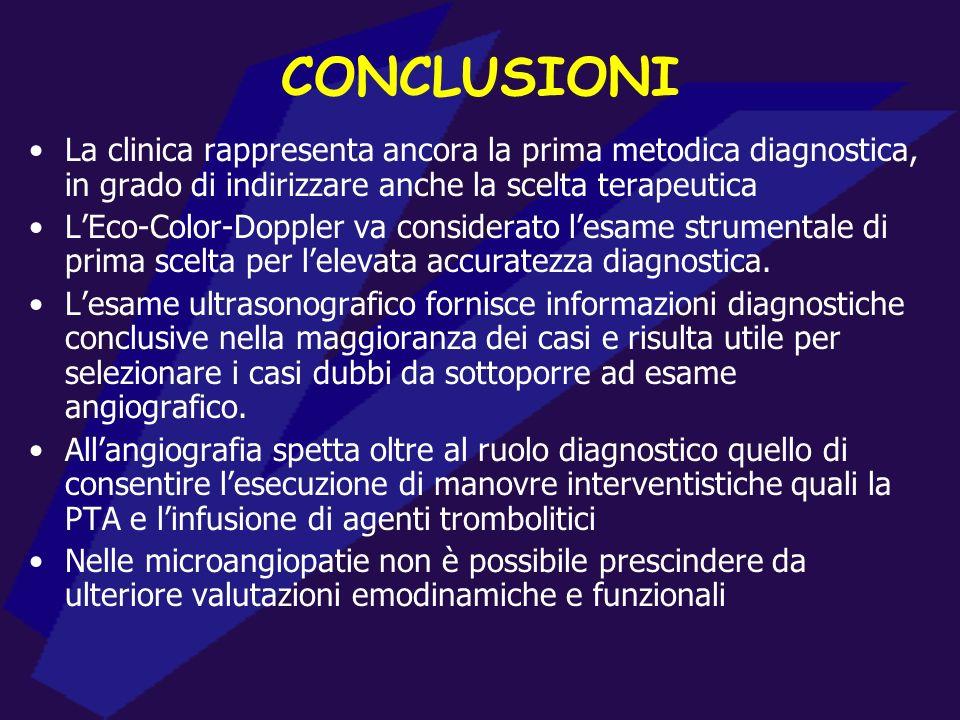 ITER DIAGNOSTICO PREOPERATORIO ACCESSO VASCOLARE IDEALE Flusso adeguato per la dialisi Lunga durata Bassa incidenza di complicazioni FAV NATIVE