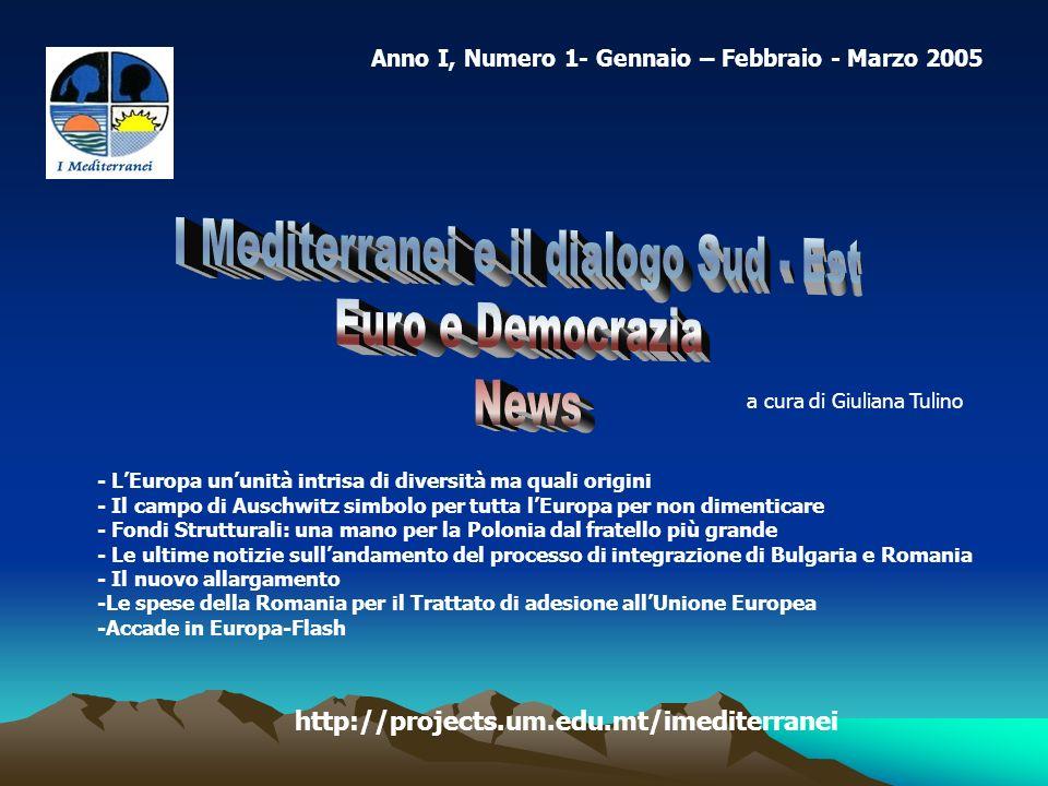 Anno I, Numero 1- Gennaio – Febbraio - Marzo 2005 - LEuropa ununità intrisa di diversità ma quali origini - Il campo di Auschwitz simbolo per tutta lE