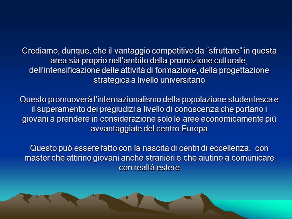 LEuropa ha dimostrato che i muri si possono abbattere, aprire, sbrecciare LEuropa e il Mediterraneo hanno un compito da svolgere nello scenario internazionale e cioè dimostrare al mondo che è possibile far comunicare le popolazioni anche di culture diverse e che quindi è possibile la convivenza e la collaborazione