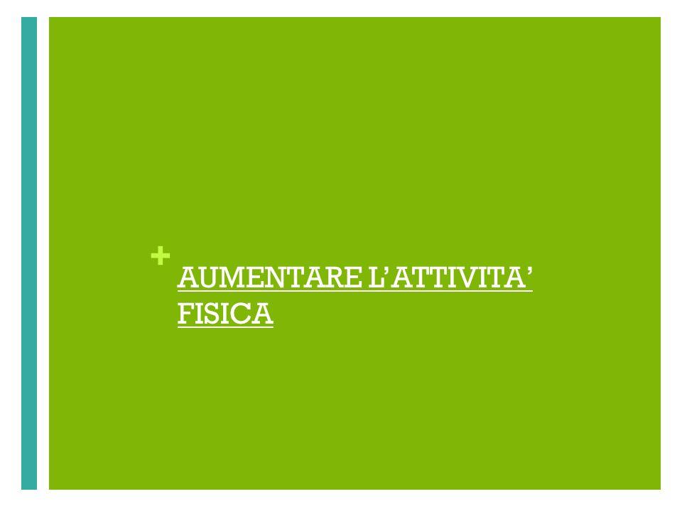 + AUMENTARE LATTIVITA FISICA