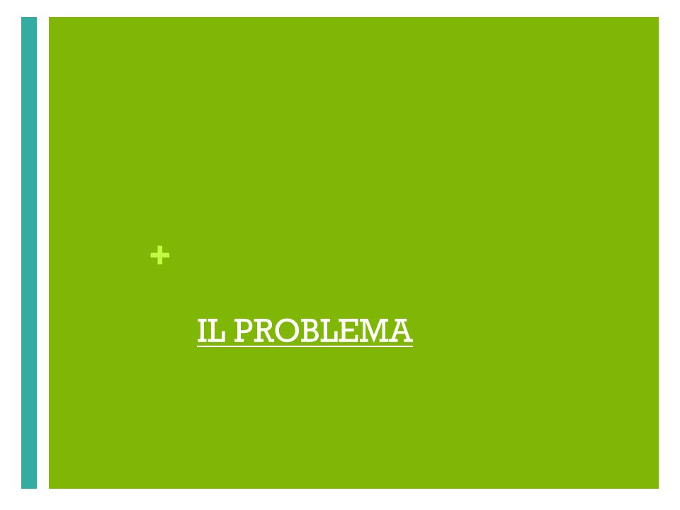 + IL PROBLEMA