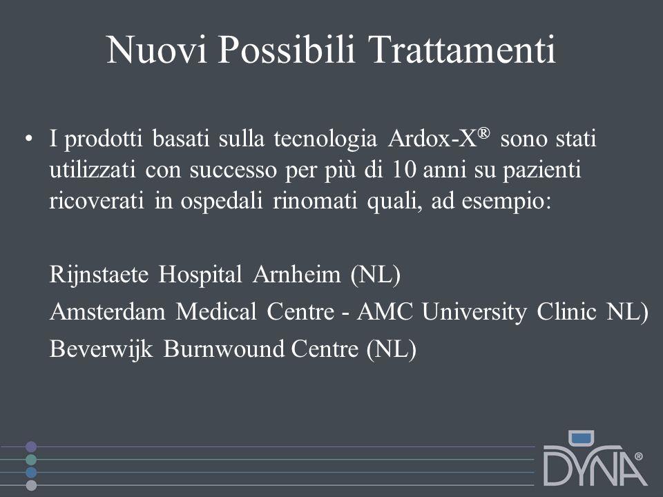 Nuovi Possibili Trattamenti I prodotti basati sulla tecnologia Ardox-X ® sono stati utilizzati con successo per più di 10 anni su pazienti ricoverati