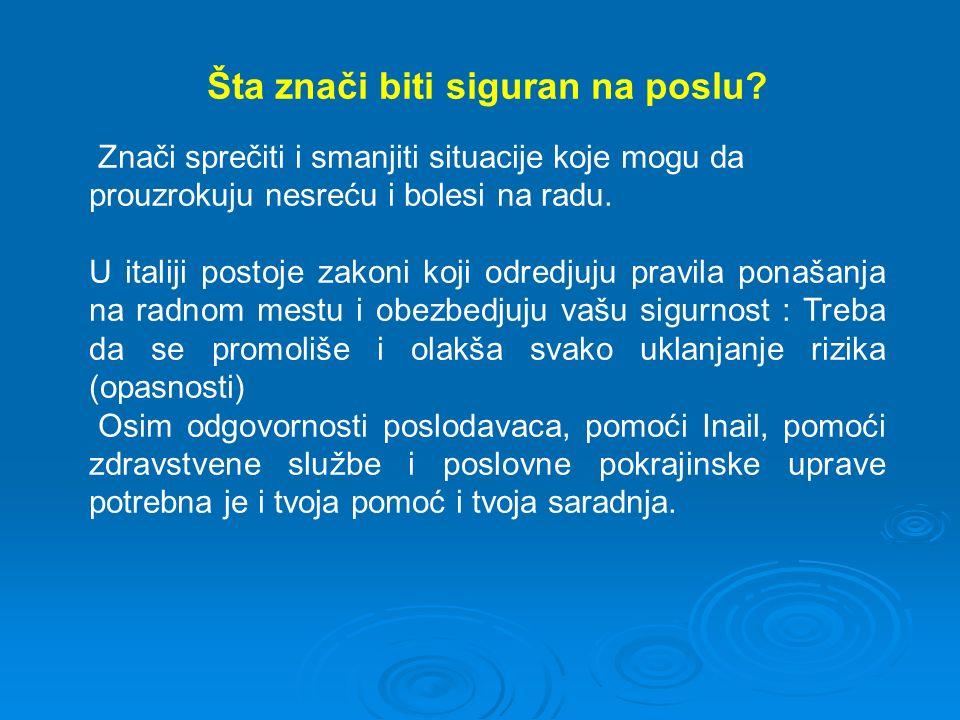 gde se primenjuju (art.3): U svim privatnim i državnim sektorima i u svim rizičnim situacijama.