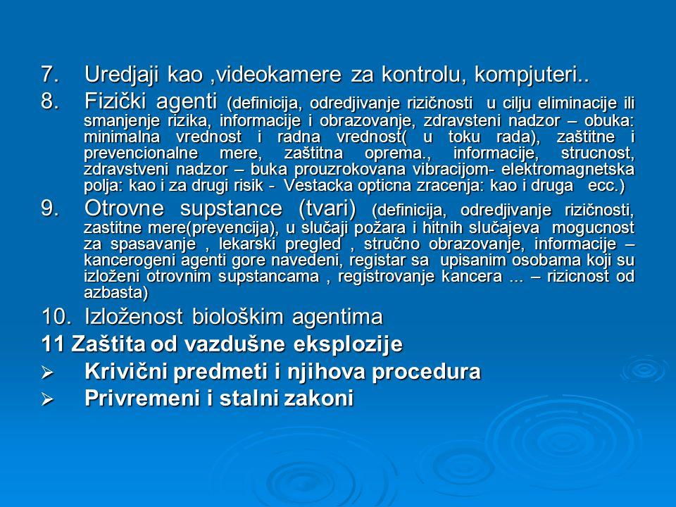 Dokumenat o proceni rizika treba da sadrži : Izveštaj sa kriterijumima za procenu svih rizika za zdravlje i bezbednost u toku rada.