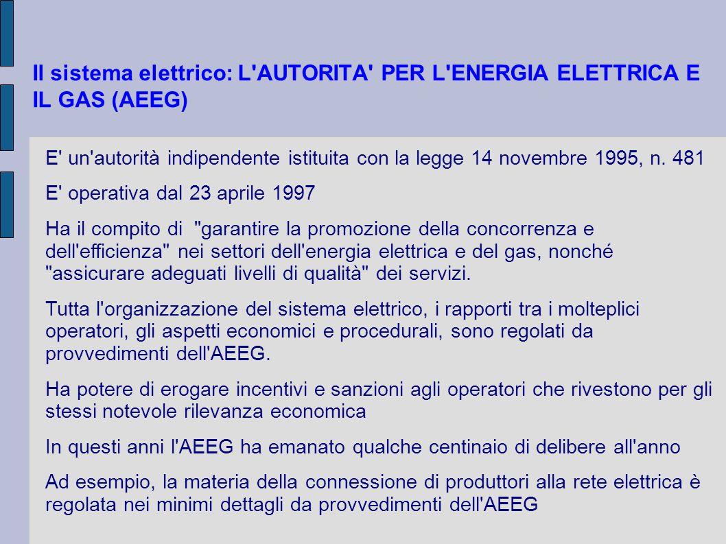 LA MISURA DELL ENERGIA PRODOTTA (Del 88/07) Potenza nominaleresponsabile servizio misura Impianto(attività H e S) a) 20 kWgestore di rete b) > 20 kW produttore (1) (1) il produttore ha facoltà di avvalersi del gestore di rete (Del 88/07 Art.