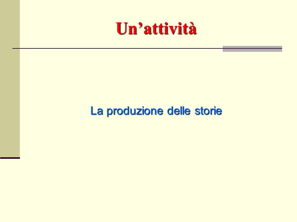 Unattività La produzione delle storie