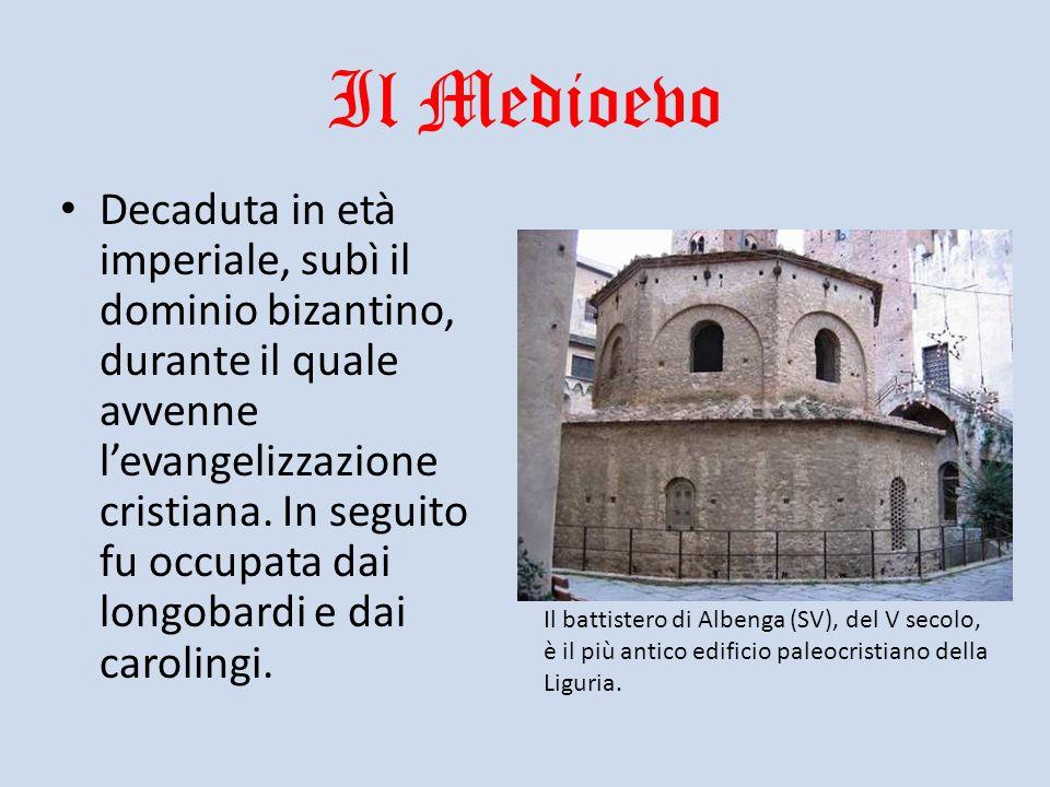 Il Medioevo Decaduta in età imperiale, subì il dominio bizantino, durante il quale avvenne levangelizzazione cristiana. In seguito fu occupata dai lon
