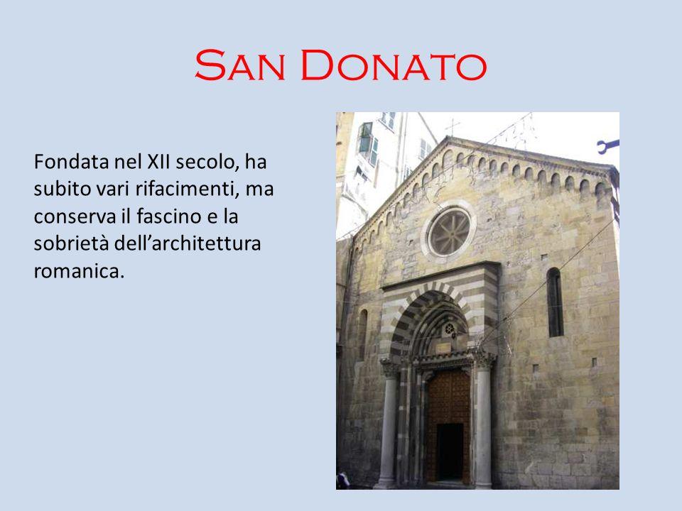 San Donato Fondata nel XII secolo, ha subito vari rifacimenti, ma conserva il fascino e la sobrietà dellarchitettura romanica.
