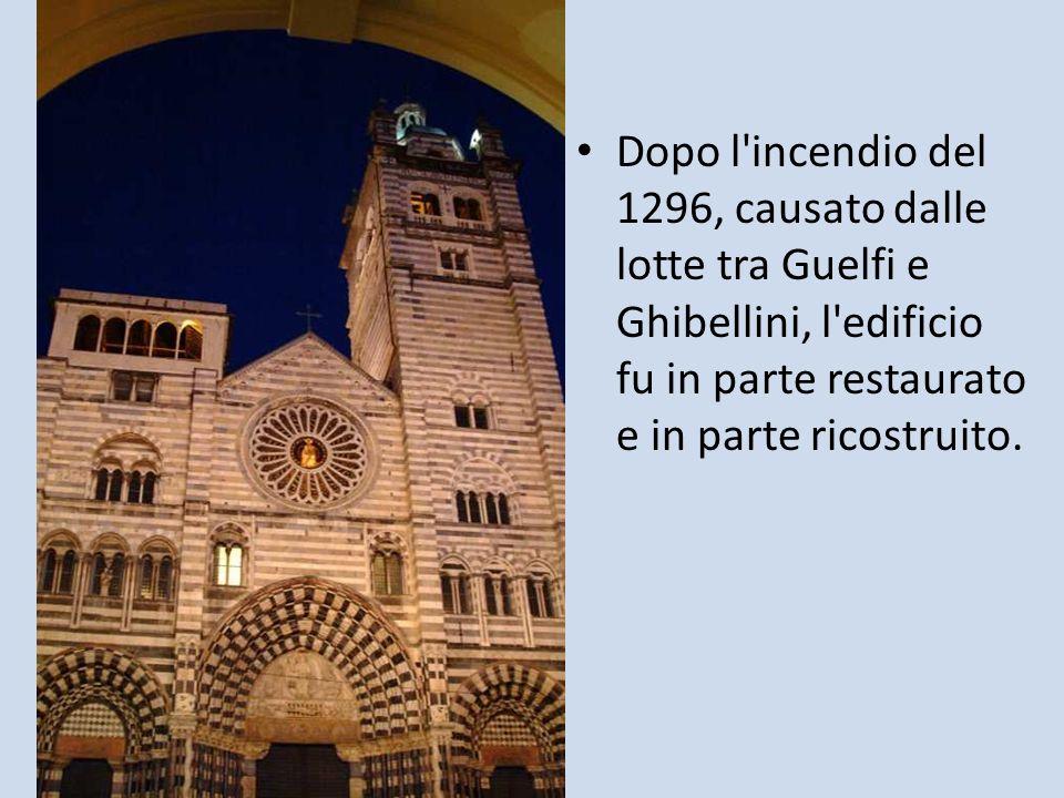 Dopo l'incendio del 1296, causato dalle lotte tra Guelfi e Ghibellini, l'edificio fu in parte restaurato e in parte ricostruito.