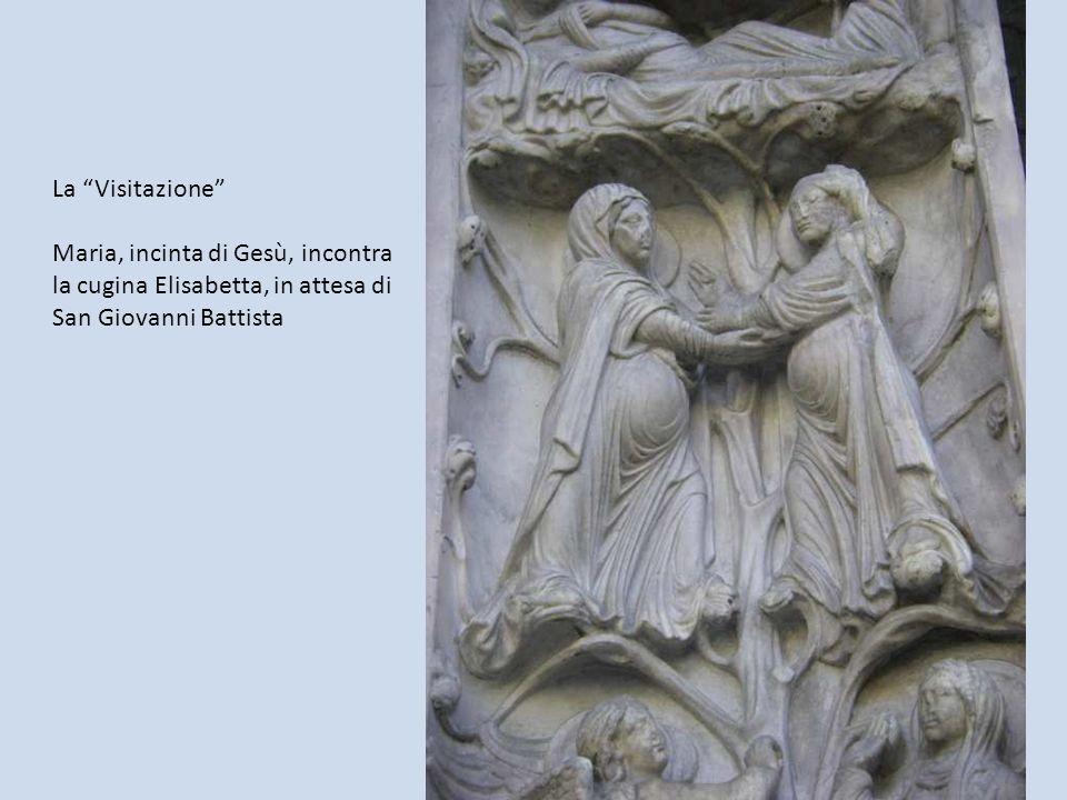 La Visitazione Maria, incinta di Gesù, incontra la cugina Elisabetta, in attesa di San Giovanni Battista