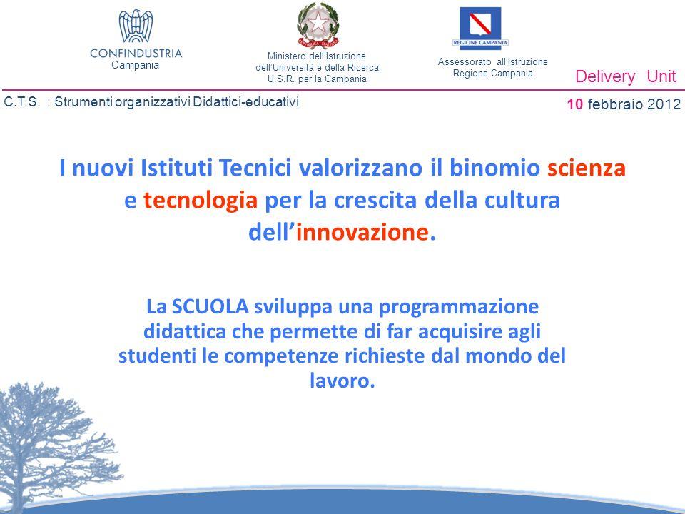 I nuovi Istituti Tecnici valorizzano il binomio scienza e tecnologia per la crescita della cultura dellinnovazione.