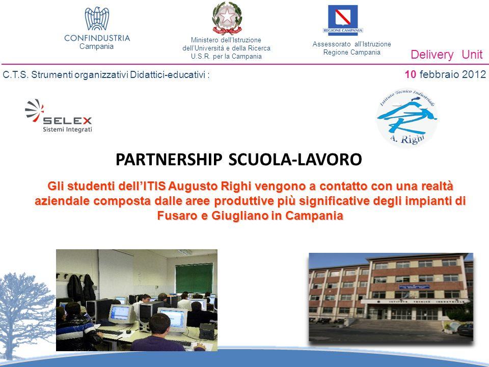 PARTNERSHIP SCUOLA-LAVORO Delivery Unit C.T.S.