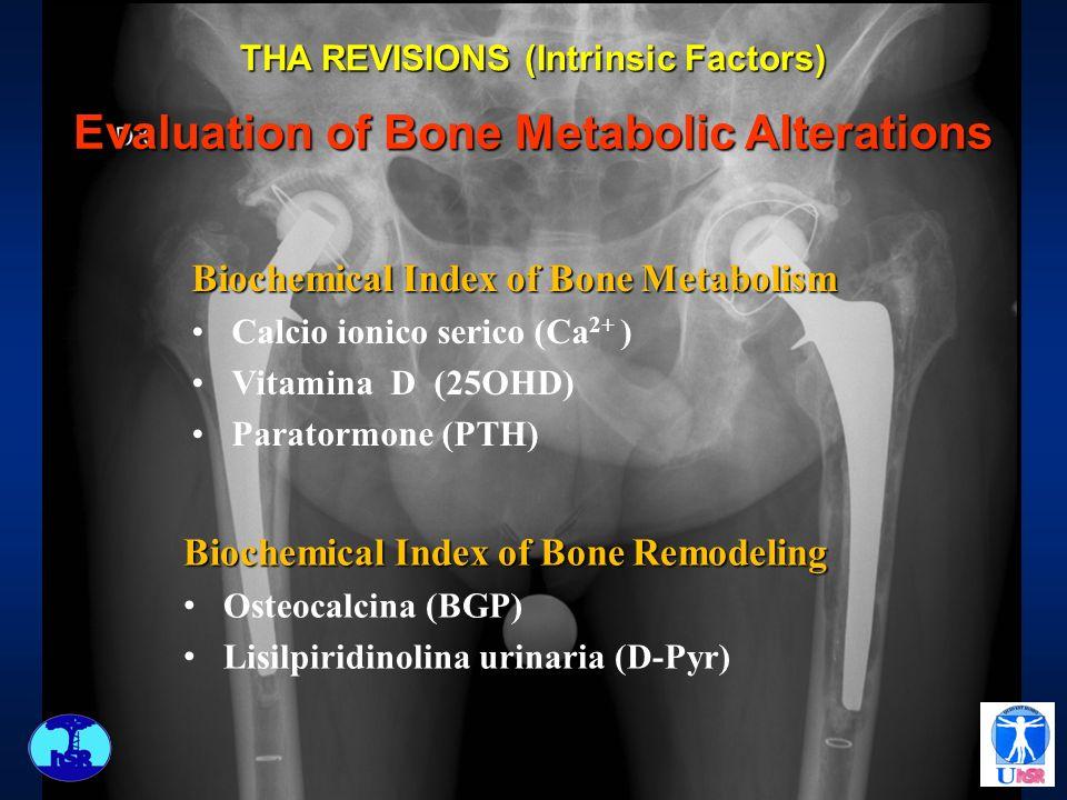 Biochemical Index of Bone Metabolism Calcio ionico serico (Ca 2+ ) Vitamina D (25OHD) Paratormone (PTH) Biochemical Index of Bone Remodeling Osteocalc