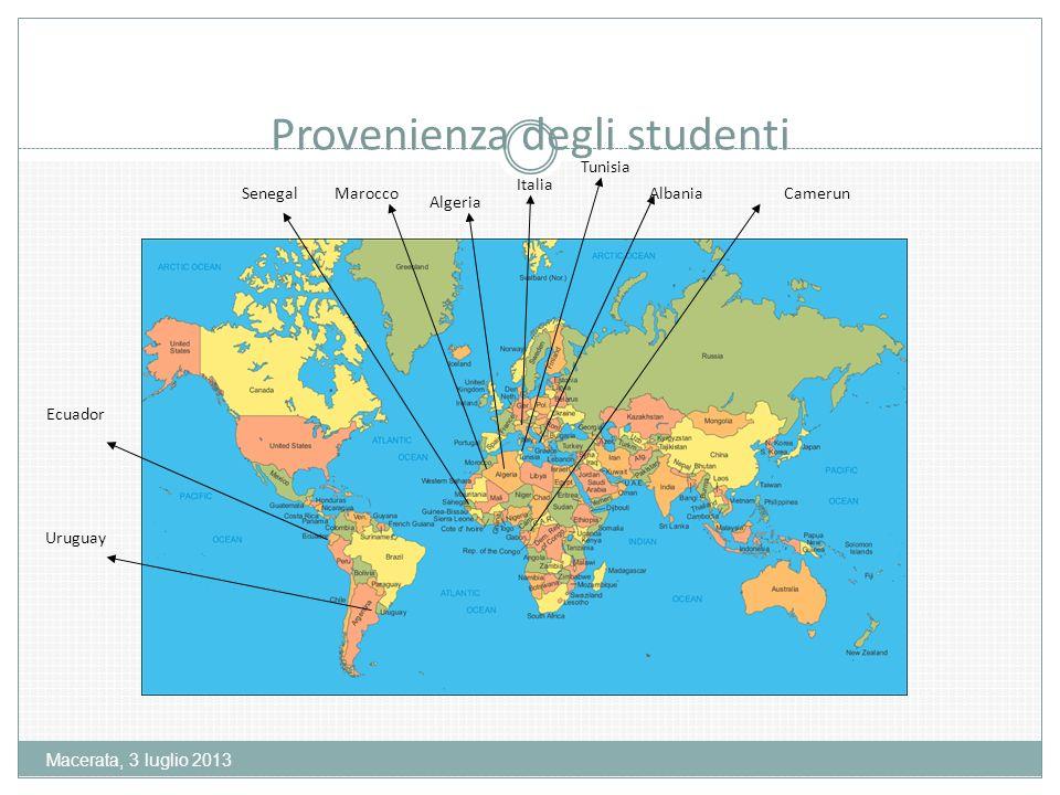 Macerata, 3 luglio 2013 Mediamente gli studenti stranieri avevano una competenza di livello A1/A2 con sufficiente abilità nella produzione e comprensione orale,ma risorse molto scarse nella produzione scritta.