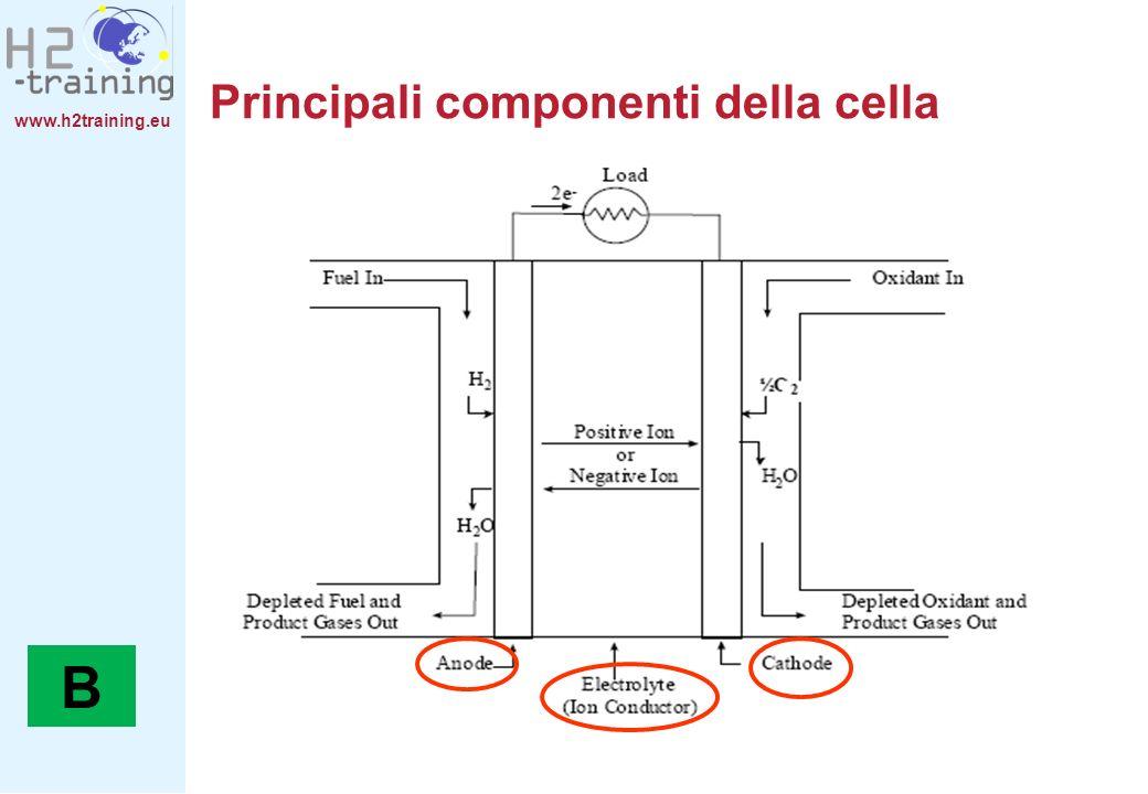 www.h2training.eu Main cell components Principali componenti della cella B