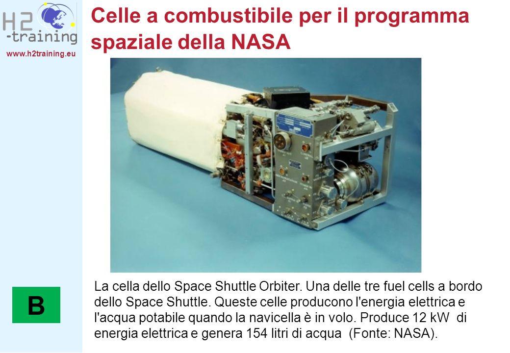www.h2training.eu Celle a combustibile per il programma spaziale della NASA La cella dello Space Shuttle Orbiter. Una delle tre fuel cells a bordo del
