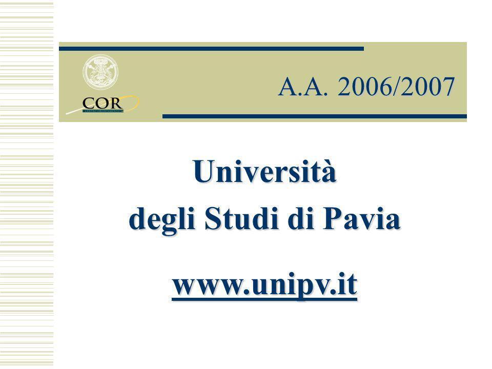 Centro Orientamento Universitario (C.OR.) Via S.
