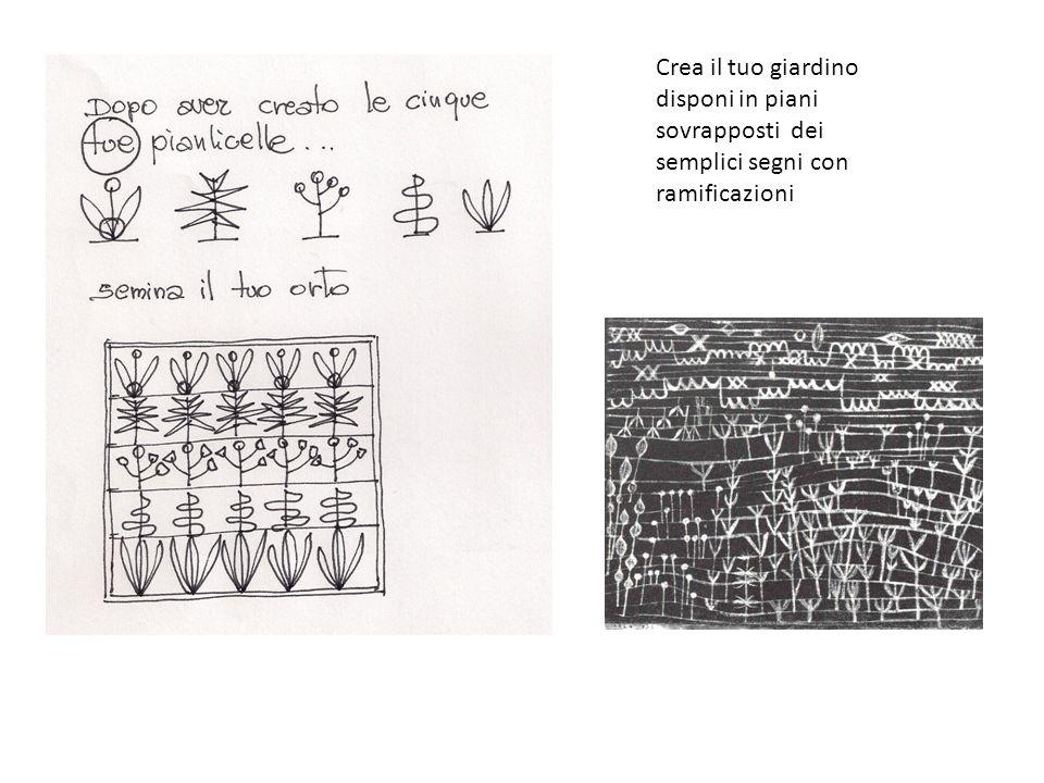 Crea il tuo giardino disponi in piani sovrapposti dei semplici segni con ramificazioni