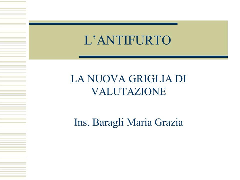 LANTIFURTO LA NUOVA GRIGLIA DI VALUTAZIONE Ins. Baragli Maria Grazia