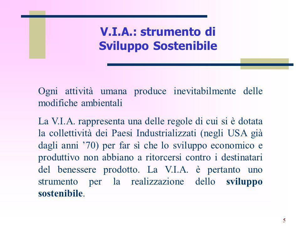 6 La valutazione dimpatto ambientale.