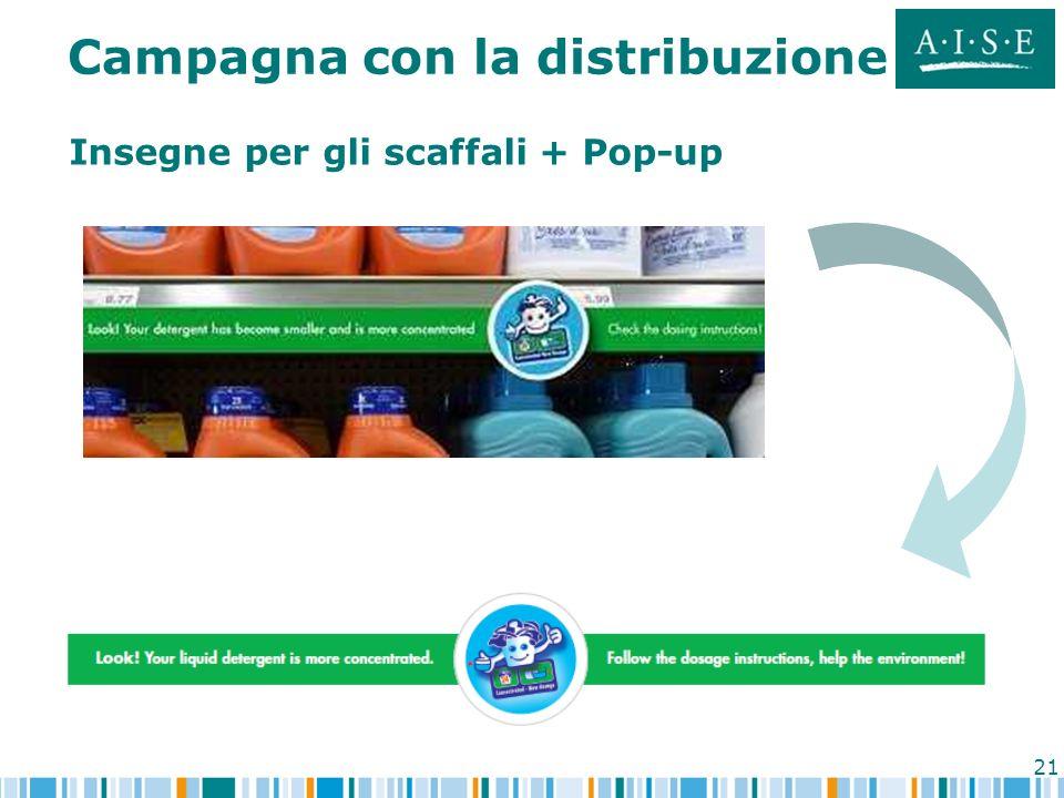 21 Insegne per gli scaffali + Pop-up Campagna con la distribuzione