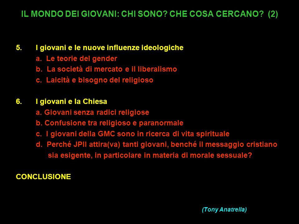 ALCUNE DIFFICOLTA DEI GIOVANI OGGI 1.