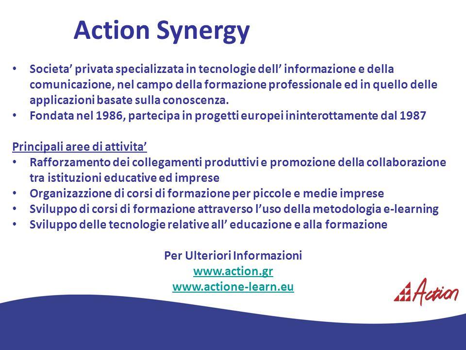 Action Synergy Societa privata specializzata in tecnologie dell informazione e della comunicazione, nel campo della formazione professionale ed in que