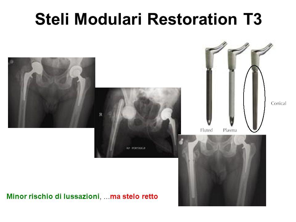 Steli Modulari Restoration T3 Minor rischio di lussazioni,...ma stelo retto