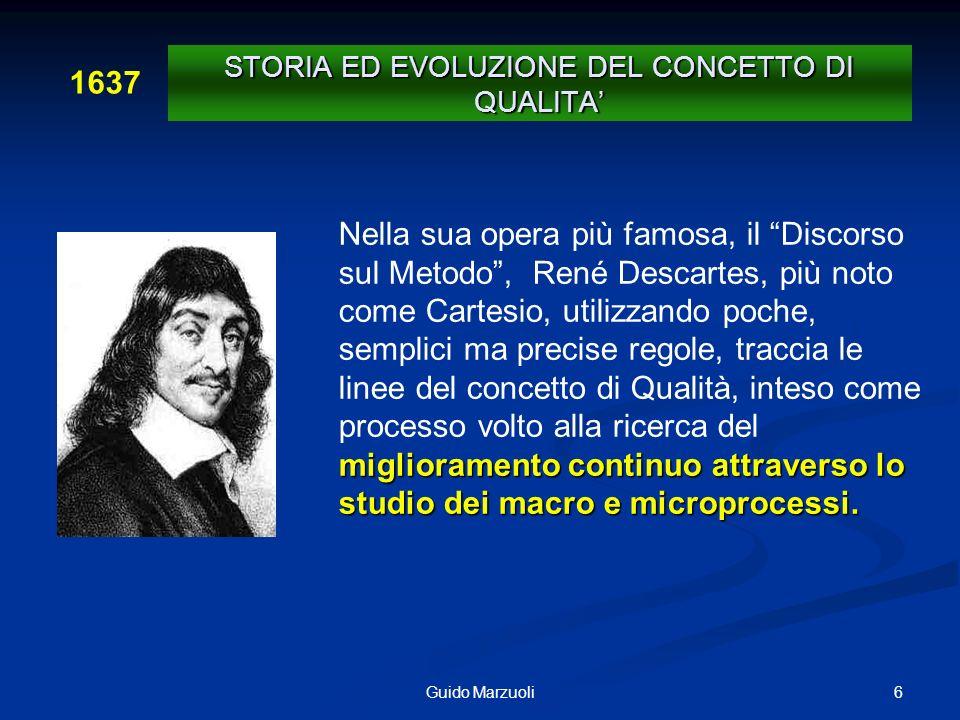 6Guido Marzuoli miglioramento continuo attraverso lo studio dei macro e microprocessi. Nella sua opera più famosa, il Discorso sul Metodo, René Descar