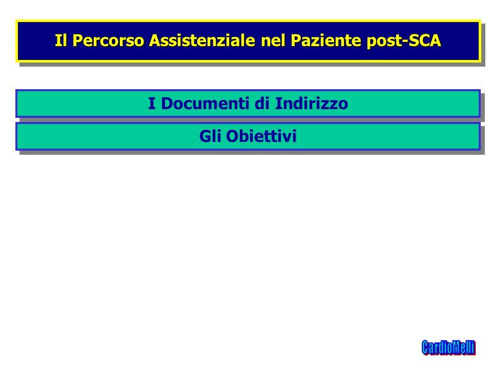 Il Percorso Assistenziale nel Paziente post-SCA I Documenti di Indirizzo Gli Obiettivi