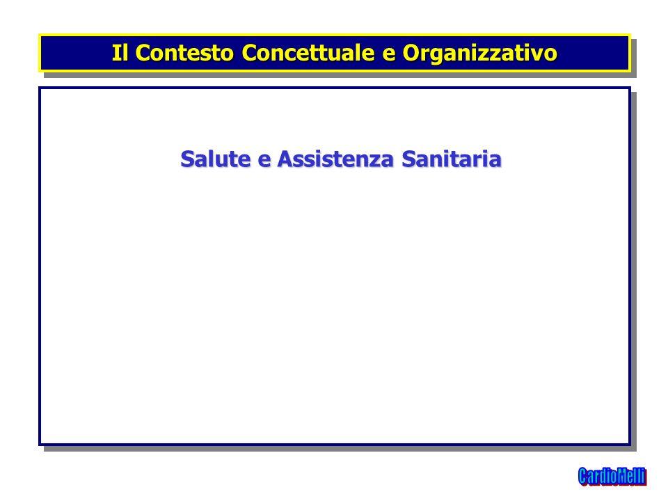 Salute e Assistenza Sanitaria Salute e Assistenza Sanitaria Il Contesto Concettuale e Organizzativo