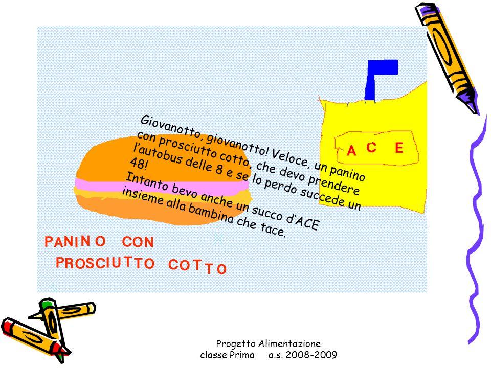 Progetto Alimentazione classe Prima a.s. 2008-2009 E nella ricreazione che mangio il prosciutto con gran soddisfazione!