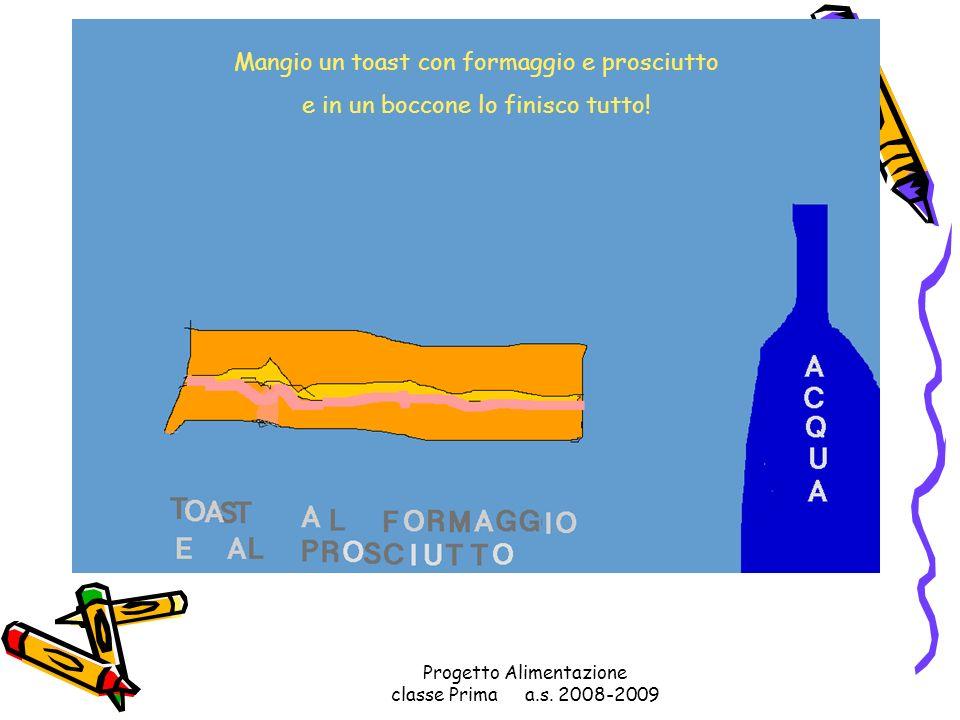 Progetto Alimentazione classe Prima a.s. 2008-2009 Un panino con il wurstel mangerei e la frutta non dimenticherei!