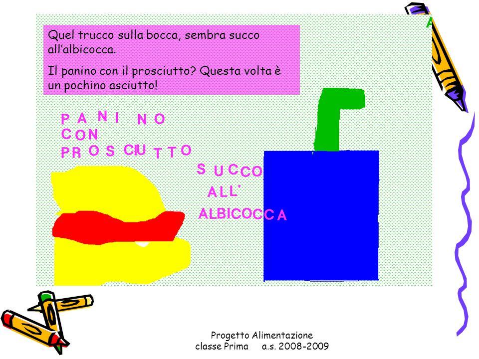 Progetto Alimentazione classe Prima a.s. 2008-2009 La banana come forma mi sembra un po strana! Se un kinder devi mangiar, ti devi rassegnar!