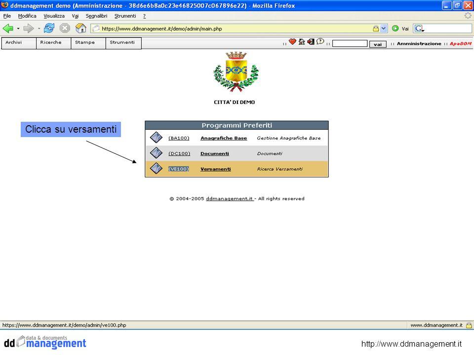 http://www.ddmanagement.it Clicca su versamenti