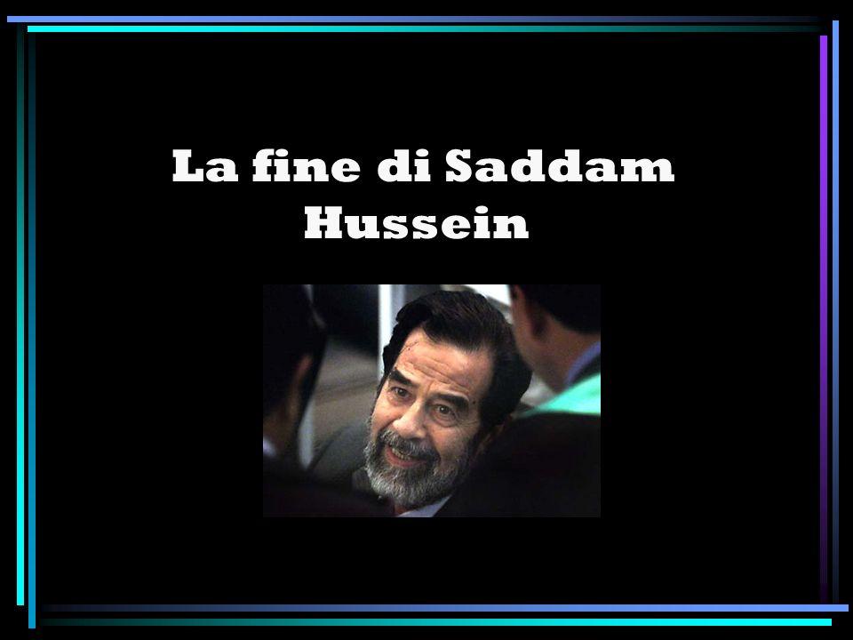 La sentenza è stata eseguita: Saddam Hussein, ex dittatore iracheno, è stato impiccato all alba del 30 dicembre, intorno alle 6 del mattino a Bagdad, quando in Italia erano circa le 4.