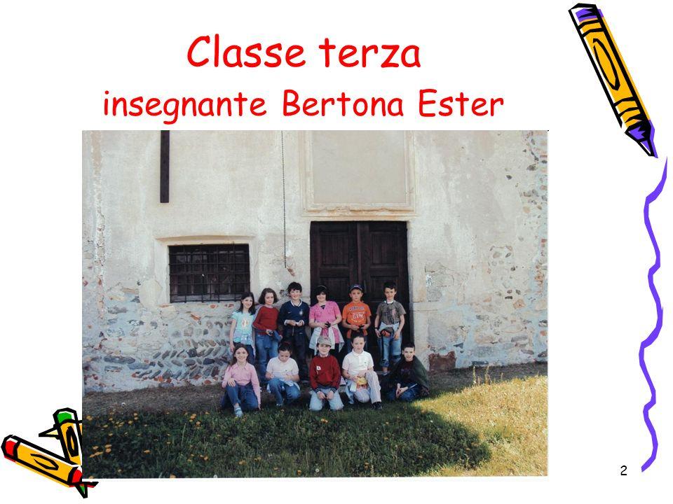2 Classe terza insegnante Bertona Ester