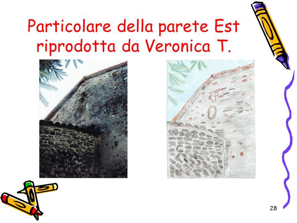 28 Particolare della parete Est riprodotta da Veronica T.