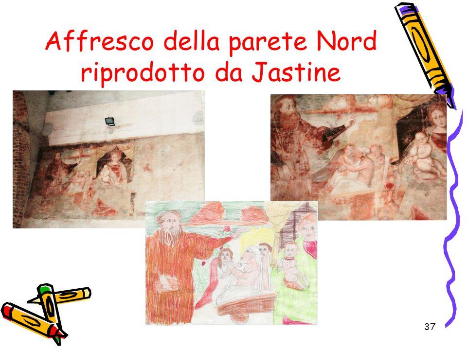 37 Affresco della parete Nord riprodotto da Jastine